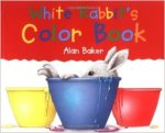 white rabbits color book